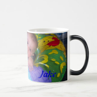 Personalised Photo and Text Mug. Magic Mug