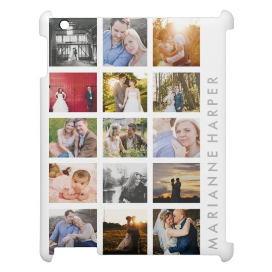 Personalised Photo Collage Gift 15 photo iPad Case