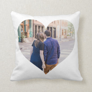 Personalised   Photo Heart Cushion