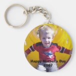 Personalised Photo Keyring Basic Round Button Key Ring