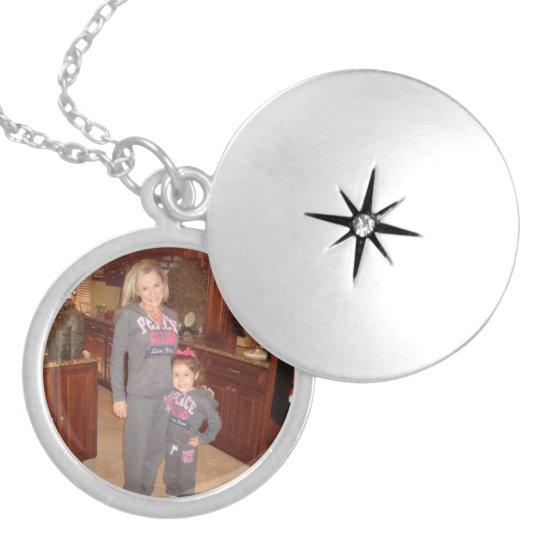Personalised photo locket necklace