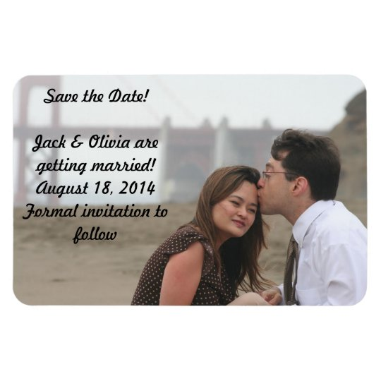 Personalised Photo Magnet - Save the Date