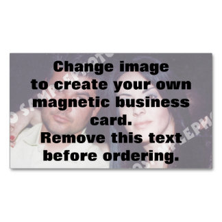 Personalised photo magnetic business card