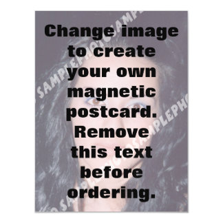 Personalised photo magnetic postcard Make your own
