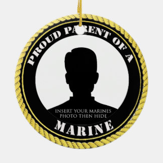 Personalised Photo Marine Parent Ornament