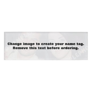 Personalised photo name tag. Make your own! Name Tag
