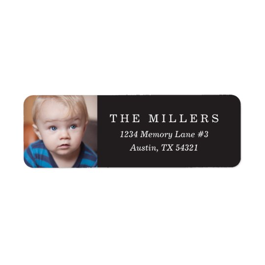 Personalised Photo Return Address Label