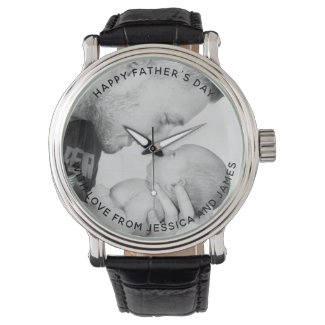 Personalised photo watch with custom message