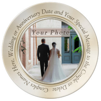 Personalised Photo Wedding Plates Your PHOTO, TEXT Porcelain Plates