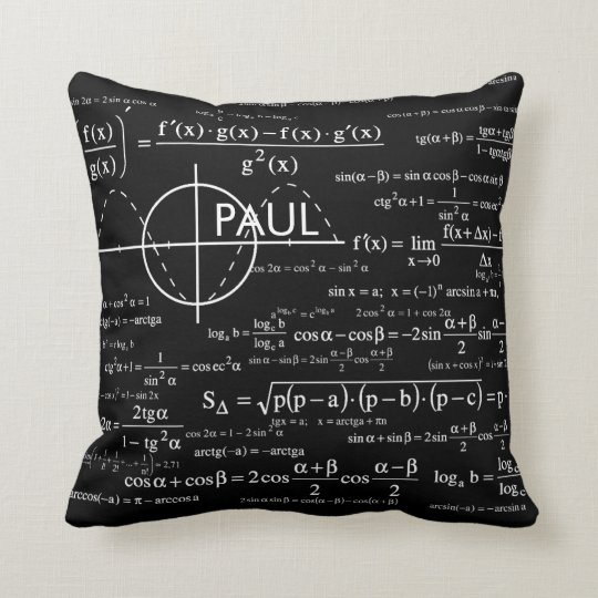 Personalised Physics Gifts for Physicists Cushion