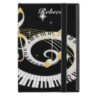 Personalised Piano Keys and Golden Music Notes iPad Mini Cover