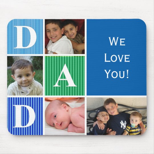 Personalised Picture Mouse Pad For Dad