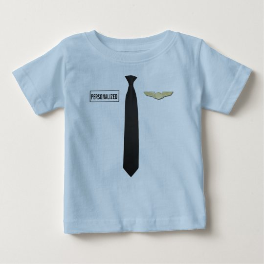 Personalised Pilot Shirt, Aviation Kids Clothing Baby T-Shirt