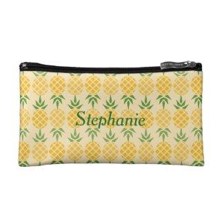Personalised Pineapple Cosmetic Bag