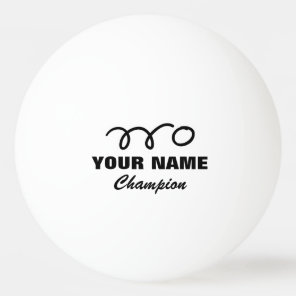 Personalised ping pong balls for table tennis game