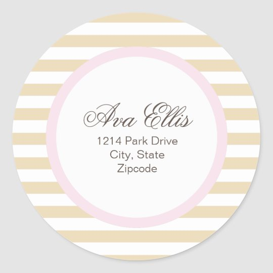 Personalised Pink Address Label/Merchandise Seal