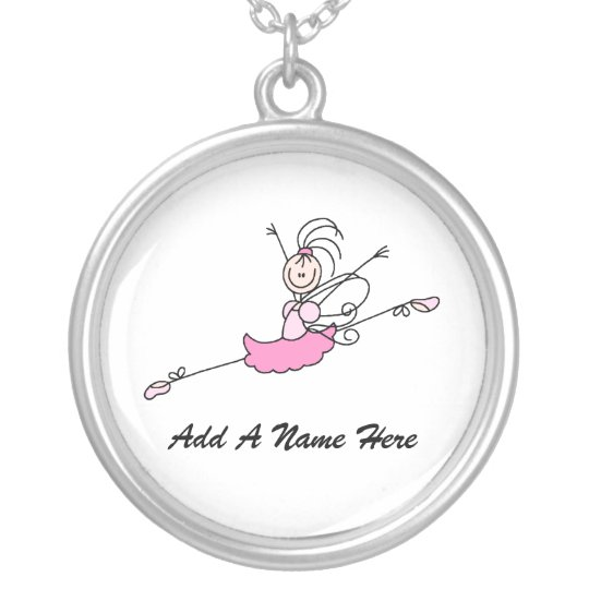 Personalised Pink Ballerina Necklace