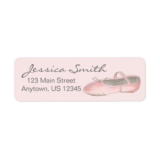 Personalised Pink Ballet Slipper Ballerina Dance