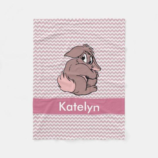 Personalised Pink Chevron | Nursery Girl Bunny Fleece