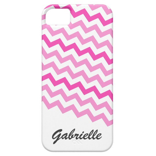 Personalised pink chevron zigzag pattern zig zag iPhone 5 cover