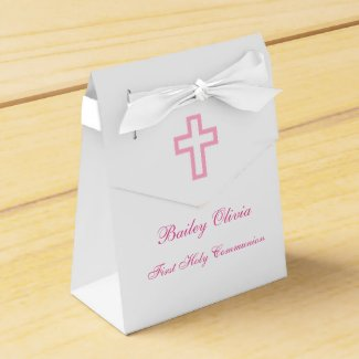 Pink Cross Favour Boxes
