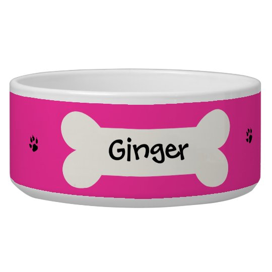 Personalised Pink Dog Bowl