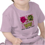Personalised Pink Frog 2nd Birthday T-shirt