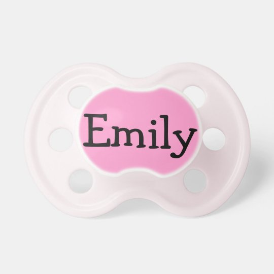 Personalised Pink Pacifier