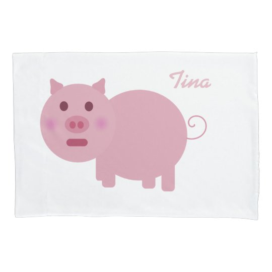 Personalised Pink Pig Pillowcases