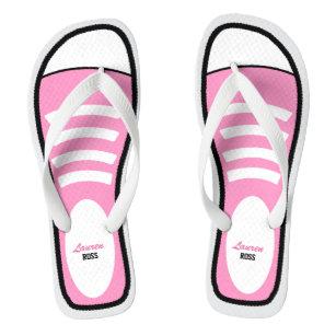 c5bae22535c921 Personalised Pink Sneakers Flip Flops