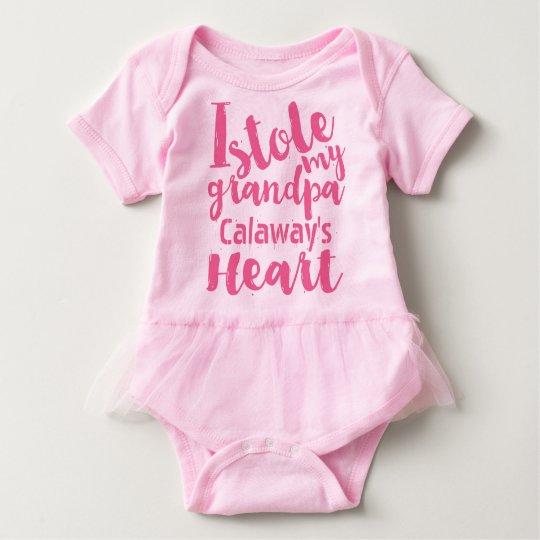 Personalised Pink Tutu Stole My Grandpas Heart Baby