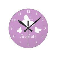 Personalised Butterflies Clock