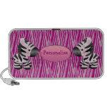 Personalised Pink Zebras & Animal Print Speaker