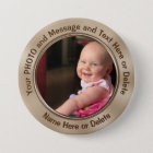 Personalised Pins with Your Photo or Logo and Text