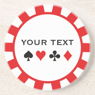 Personalised Poker Chip coasters