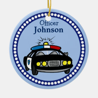 Personalised Police Car Christmas Ornament