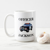 Personalised Police Car Officer