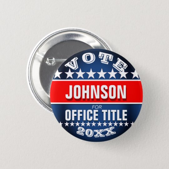 Personalised Political Button