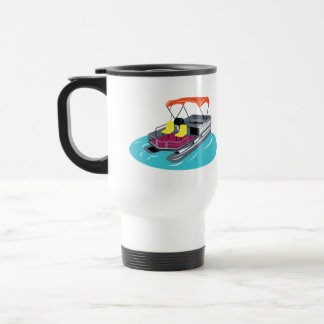 Personalised Pontoon Boat Travel Mug