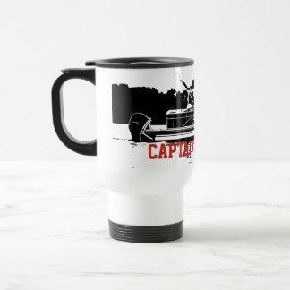 Personalised Pontoon Boat Travel Mug in Black