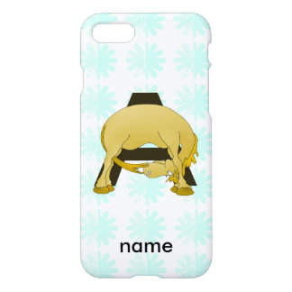 Personalised Pony Monogram A iPhone 7 Case