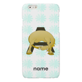 Personalised Pony Monogram A Glossy iPhone 6 Case