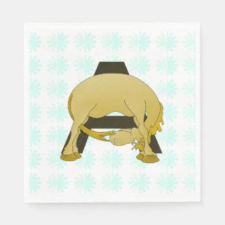 Personalised Pony Monogram A Paper Serviettes