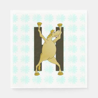 Personalised Pony Monogram H Disposable Napkin
