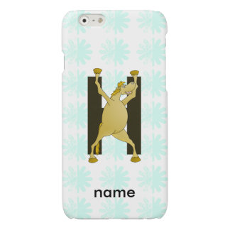 Personalised Pony Monogram H iPhone 6 Plus Case