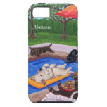 Personalised Pool Party Labradors 2 iPhone 5 Cover