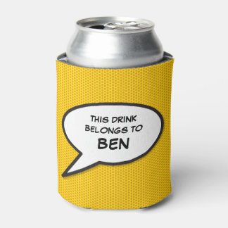 Personalised Pop Art Comic Book Speech Bubble Can Cooler