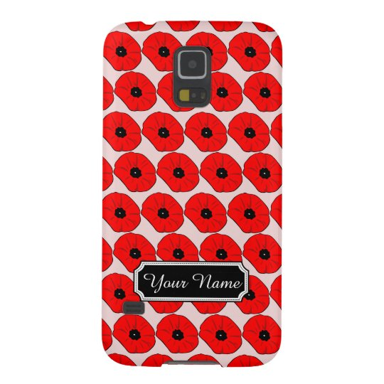 Personalised Poppy Flowers Samsung Galaxy S5 Case