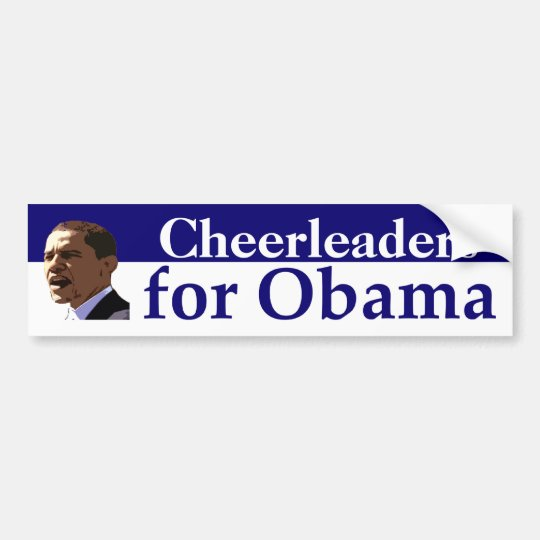 Personalised Portrait Bumper Sticker for Obama