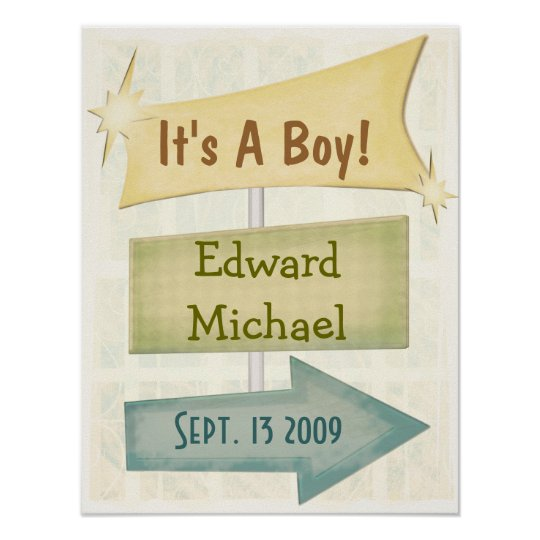 Personalised Poster New Baby / Any Occasion